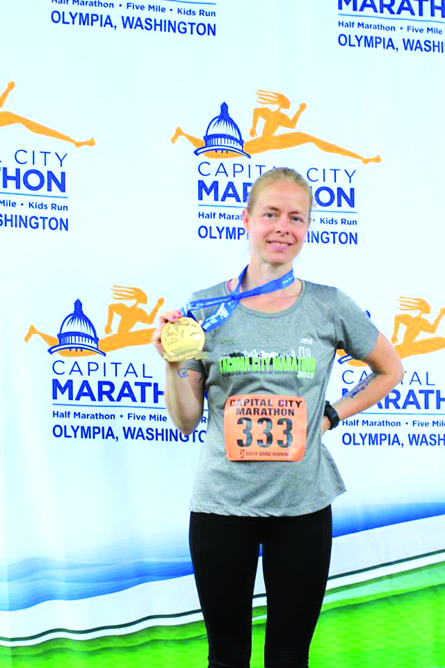Local marathon runner completes two races in Tacoma and Olympia