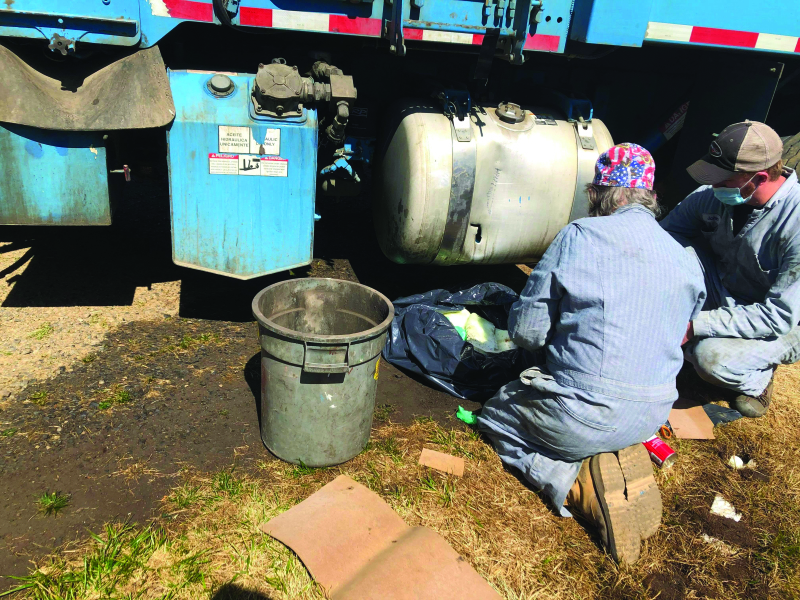 Diesel spill near Nemah River