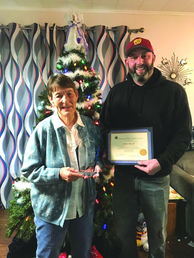 Wallin awarded Volunteer of the Year